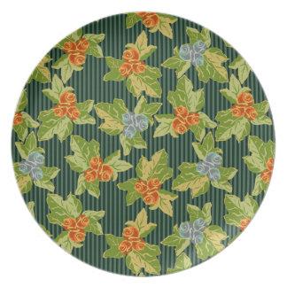 Grandma's Sofa Meets Funky Folk Art Plate