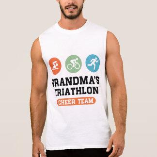Grandma's Triathlon Cheer Team Sleeveless Shirt