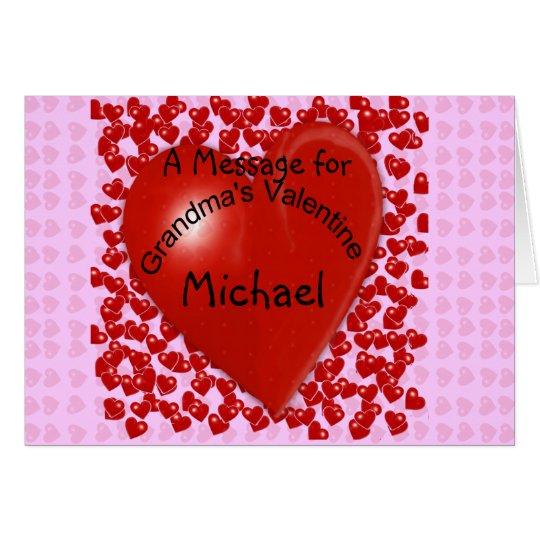 Grandma's Valentine Message Card