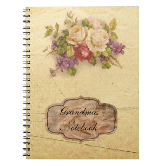 Grandmas Vintage Rose Notebooks