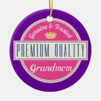 Grandmom (Funny) Gift Ceramic Ornament