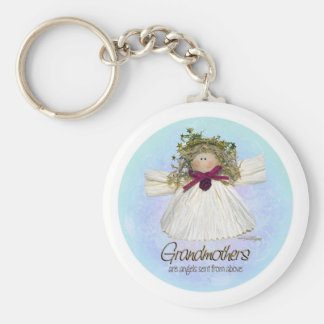 Grandmother Angel - blues Keychain