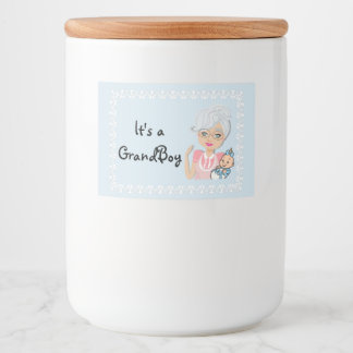 Grandmother Baby Shower Food Jar Label