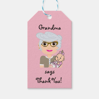 Grandmother Baby Shower Gift Tag