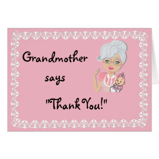 Grandmother Baby Shower Gift Thank You Card