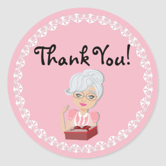 Grandmother Baby Shower Thank You Sticker