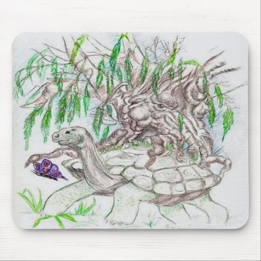 Grandmother Earth and Willow Mousepad