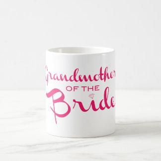 Grandmother of Bride Pink on White Coffee Mug