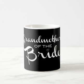 Grandmother of Bride White on Black Coffee Mug