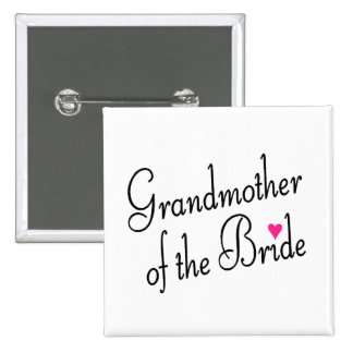 Grandmother Of The Bride 2 Inch Square Button