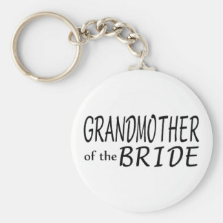 Grandmother Of The Bride Basic Round Button Keychain