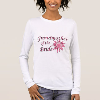 Grandmother of the Bride Pink Long Sleeve T-Shirt