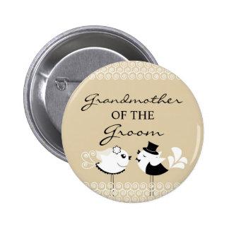 Grandmother of the Groom Birds Wedding Button