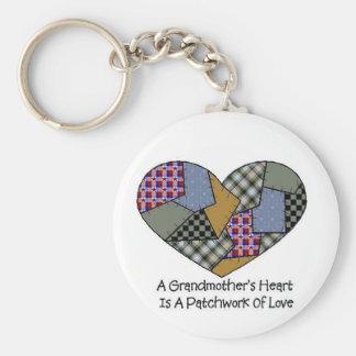 Grandmother Patchwork Keychain