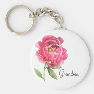 Grandmother Peony Keychain Mother's Day Gift
