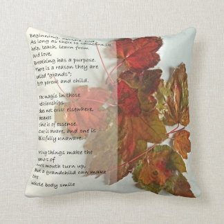 Grandmother Poem Throw Pillow
