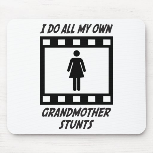 Grandmother Stunts Mouse Pads