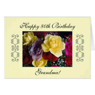 Grandmother's 80th birthday card