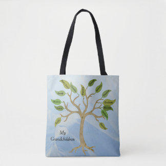 Grandmothers Family Tree Custom Tote Bag
