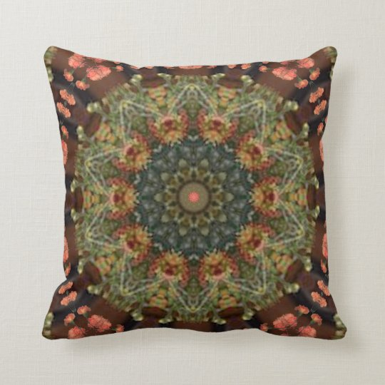 Grandmother's Flower Garden. Throw Pillow