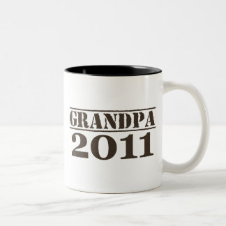Grandpa 2011 Two-Tone coffee mug