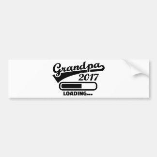 Grandpa 2017 bumper sticker