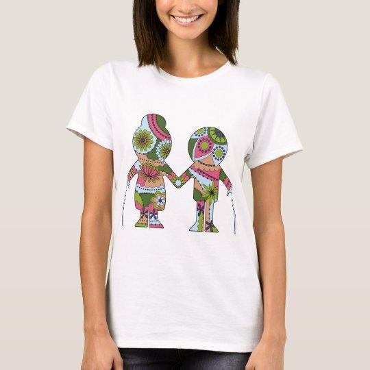Grandpa and grandma colourful T-Shirt
