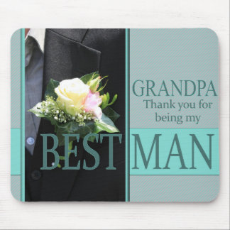 Grandpa best man thank you mouse pad