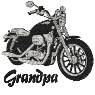 Grandpa Biker Embroidered Shirt
