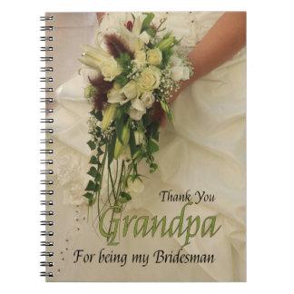 Grandpa Bridesman thank you Notebooks