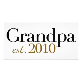 Grandpa Est 2010 Photo Card Template