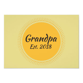Grandpa Est. 2018 Announcement Card