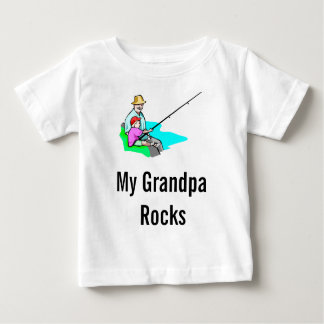 grandpa fishing, My Grandpa Rocks Baby T-Shirt