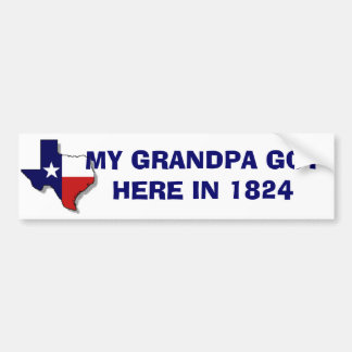 GRANDPA GOT HERE BUMPER STICKER