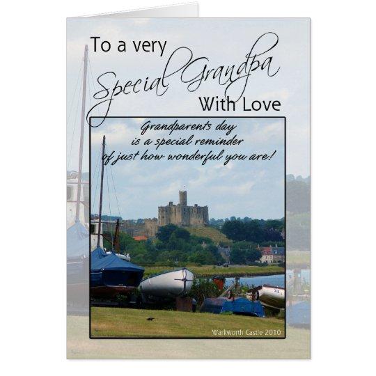 Grandpa, Grandparents Day Card - Warkworth Castle