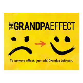 "Grandpa Greeting - Presenting ""the Grandpa Effect"" Postcard"