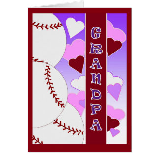 Grandpa - I Love You More Than You Love Baseball Card