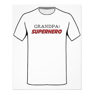 Grandpa is a Superhero Grandfather Flyer