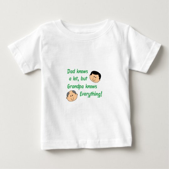 Grandpa Knows Everything Baby T-Shirt