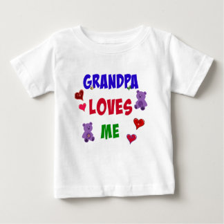 Grandpa Loves Me Baby T-Shirt