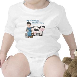 Grandpa Milks Cows Tees