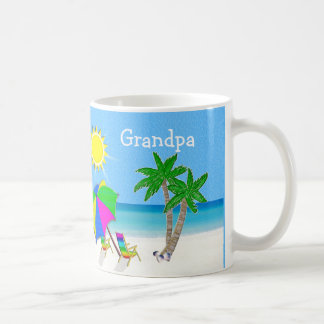 GRANDPA Mugs Beach Themed Coffee Mugs