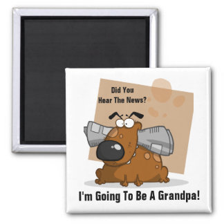 Grandpa News (Customizable) Square Magnet