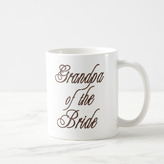 Grandpa of Bride Classy Browns Coffee Mug