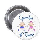 Grandpa of Twins 2 Inch Round Button