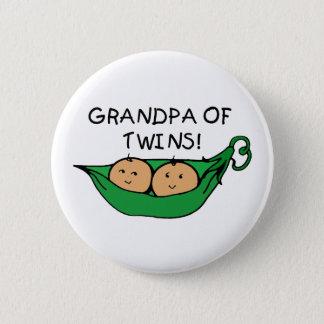 Grandpa of Twins Pod 2 Inch Round Button