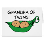 Grandpa of Twins Pod Greeting Card