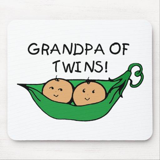 Grandpa of Twins Pod Mouse Pad