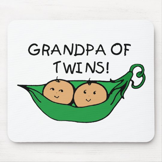 Grandpa of Twins Pod Mouse Pad