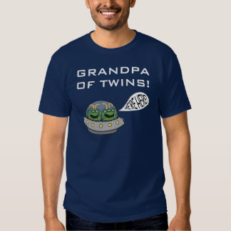"""GRANDPA OF TWINS! """"We're Here!"""" T-shirts"""